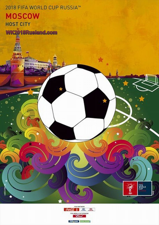 WK 2018 poster: Moskou