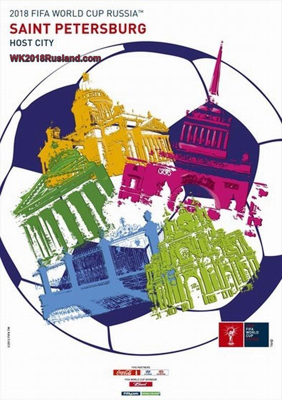 WK 2018 poster: Sint-Petersburg