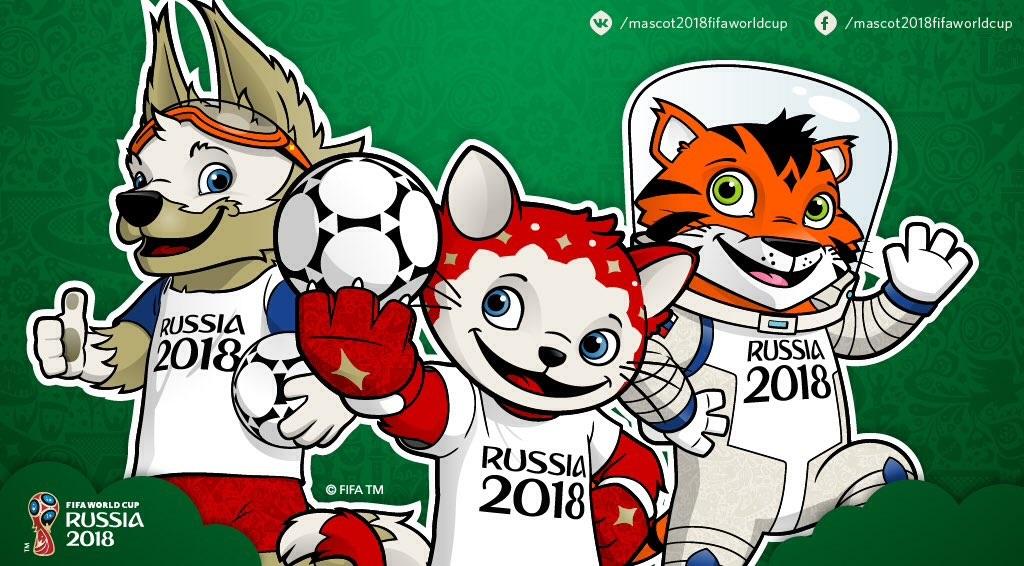 3 WK 2018 mascottes