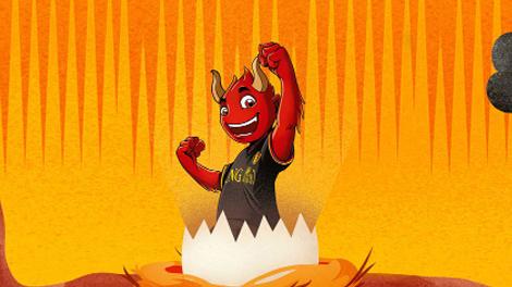 Mascotte Rode Duivel Red cartoon