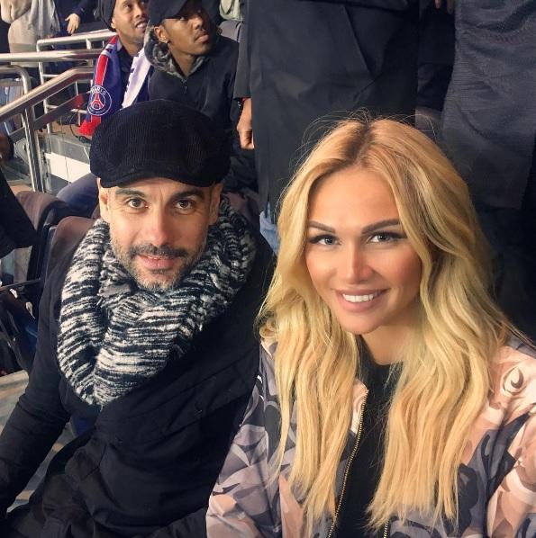 Russisch topmodel naast Pep Guardiola